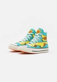Converse - CHUCK TAYLOR ALL STAR 70 - Høye joggesko - turquoise/yellow - 1