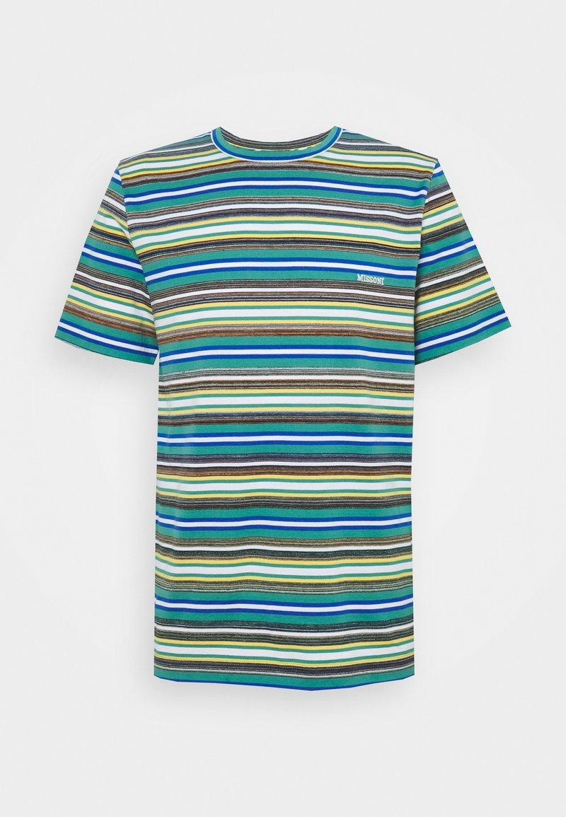 Missoni - SHORT SLEEVE - Print T-shirt - mare blu