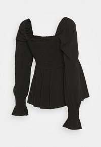 New Look Maternity - SHIRRED PEPLUM - Long sleeved top - black - 1