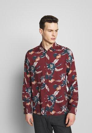 FLORAL - Košile - burgundy