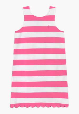 PONTE - Jersey dress - baja pink/white