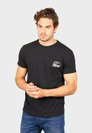 MOTORCYCLE TEAM - T-shirt print - black