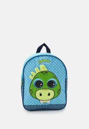 BACKPACK LULUPOP & THE CUTIEPIES ANIMALS DINO UNISEX - Batoh - blue/green