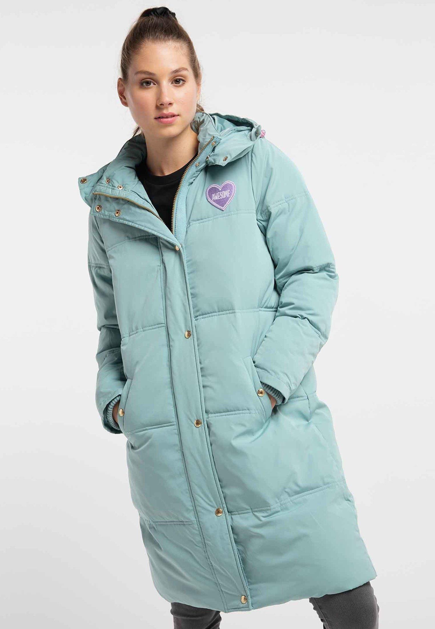 Winterjas dark mint