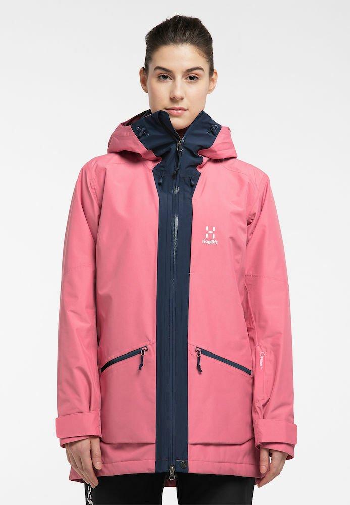 Haglöfs - LUMI INSULATED PARKA - Snowboard jacket - tulip pink/tarn blue