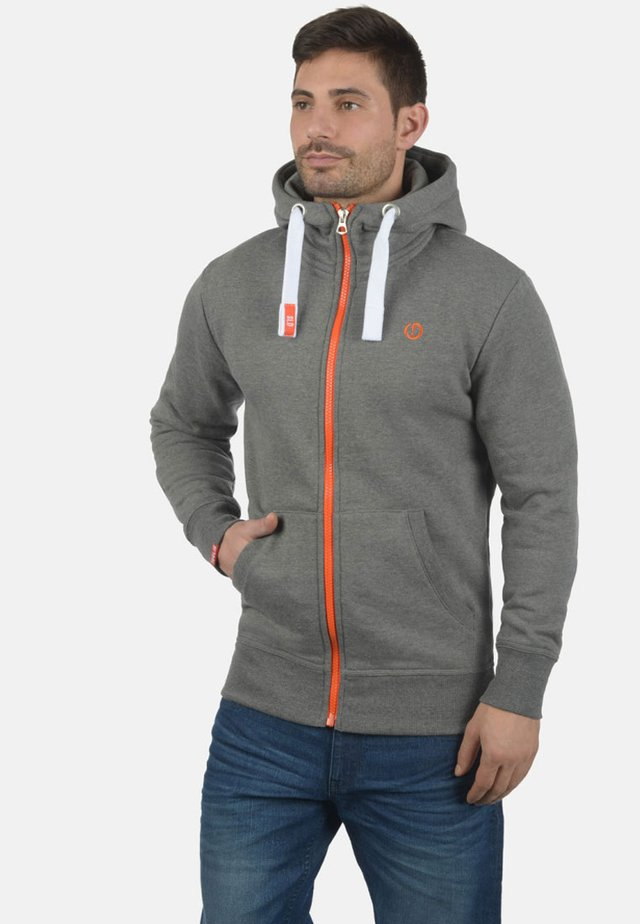 BENN  - veste en sweat zippée - grey melange