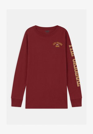 GRAPHIC RINGER UNISEX - Long sleeved top - bordeaux