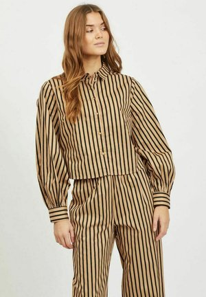 Button-down blouse - tigers eye