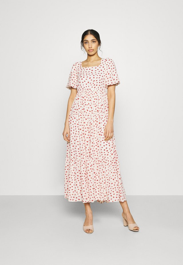 PETAL POST TIERED MIDI DRESS - Sukienka letnia - cream