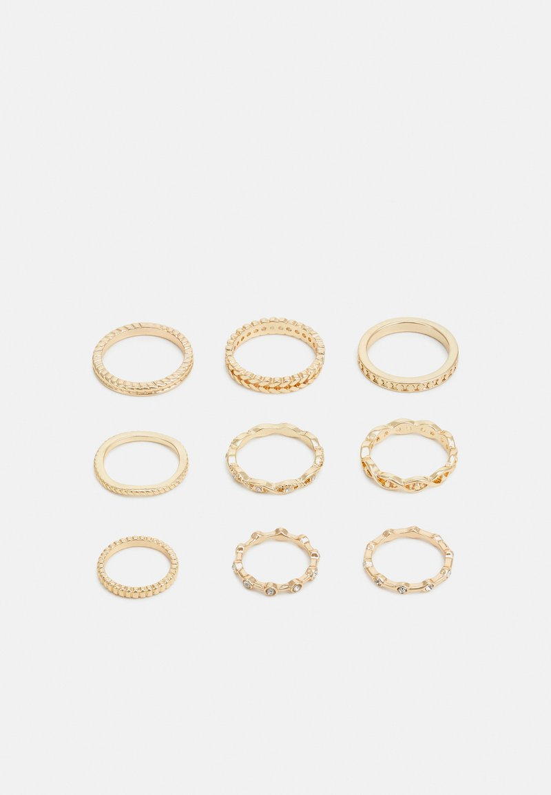 Pieces - PCWALLY 9 PACK - Ringar - gold-coloured
