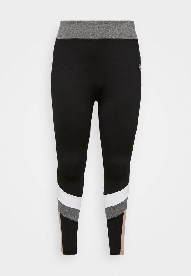 HAVANA TIGHT CURVE - Leggings - black/white/grindle