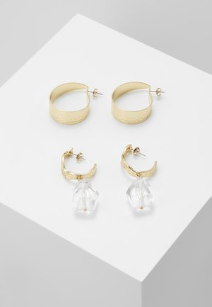 PCNANNE HOOP EARRINGS 2 PACK - Earrings - gold-coloured