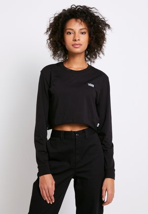 JUNIOR V CROP - Langarmshirt - black-white