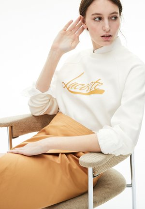 Sweatshirt - blanc / marron clair
