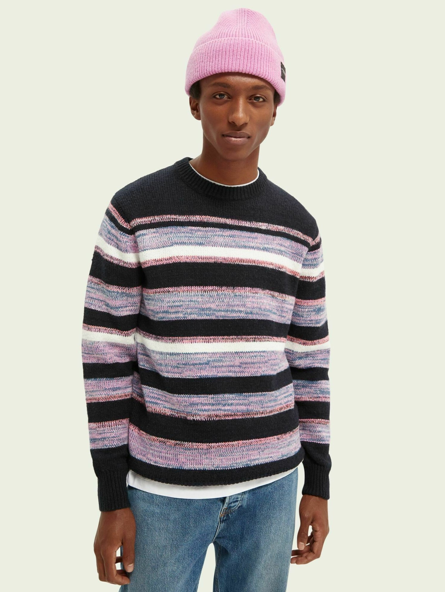 Homme STRIPED - Pullover