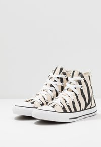 Converse - CHUCK TAYLOR ALL STAR ZEBRA PRINT  - Sneakers high - black/greige/white - 3