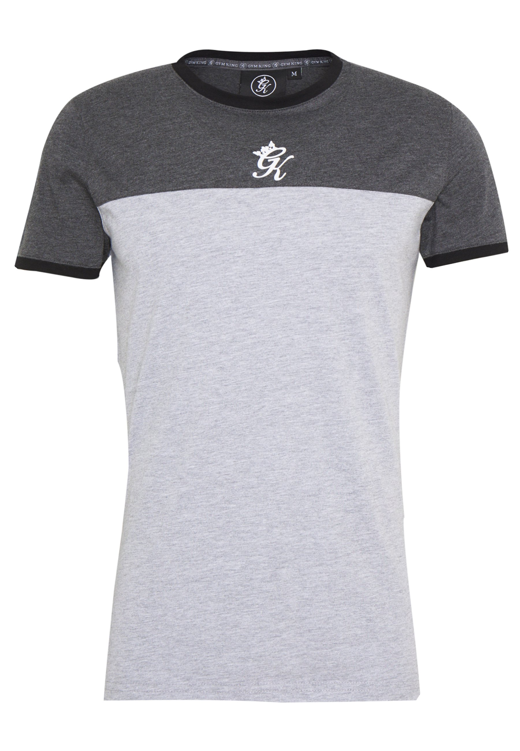 Gym King ORIGIN PANEL - T-shirts med print - charcoal marl/grey marl