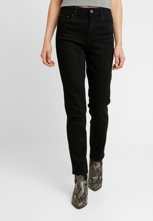 HIGH ANKLE - Straight leg jeans - jet black