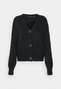 Vero Moda - VMLEFILE V NECK - Strickpullover - black - 3