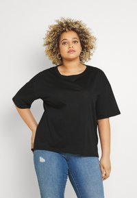 Even&Odd Curvy - T-shirt basic - black - 0