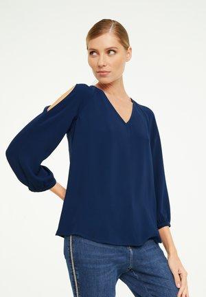 MIT CUT OUT - Blouse - dark blue
