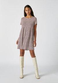 PULL&BEAR - Denní šaty - red - 1