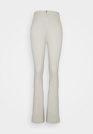 ZIP FLARE TROUSERS - Trousers - sage