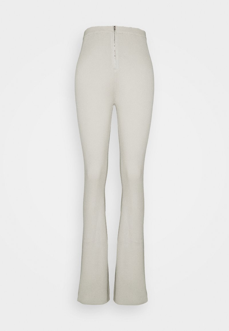 Missguided Tall - ZIP FLARE TROUSERS - Broek - sage