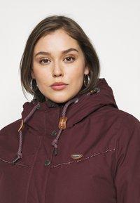 Ragwear Plus - CANNY - Zimní kabát - wine red - 4