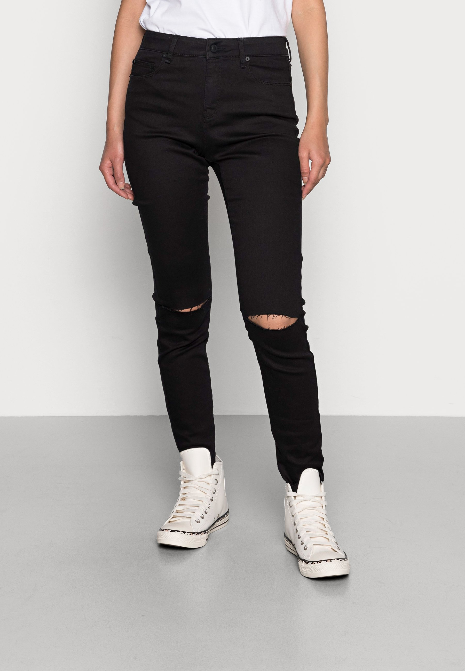Donna ALEXA ANKLE WASH PORTO BLACK - Jeans Skinny Fit