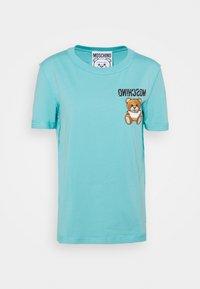 MOSCHINO - Print T-shirt - fantasy light blue - 5