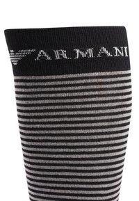Emporio Armani - LONG 2 PACK - Knee high socks - black - 2