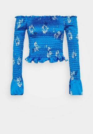 SMOCKED OFF THE SHOULDER - Bluser - blue