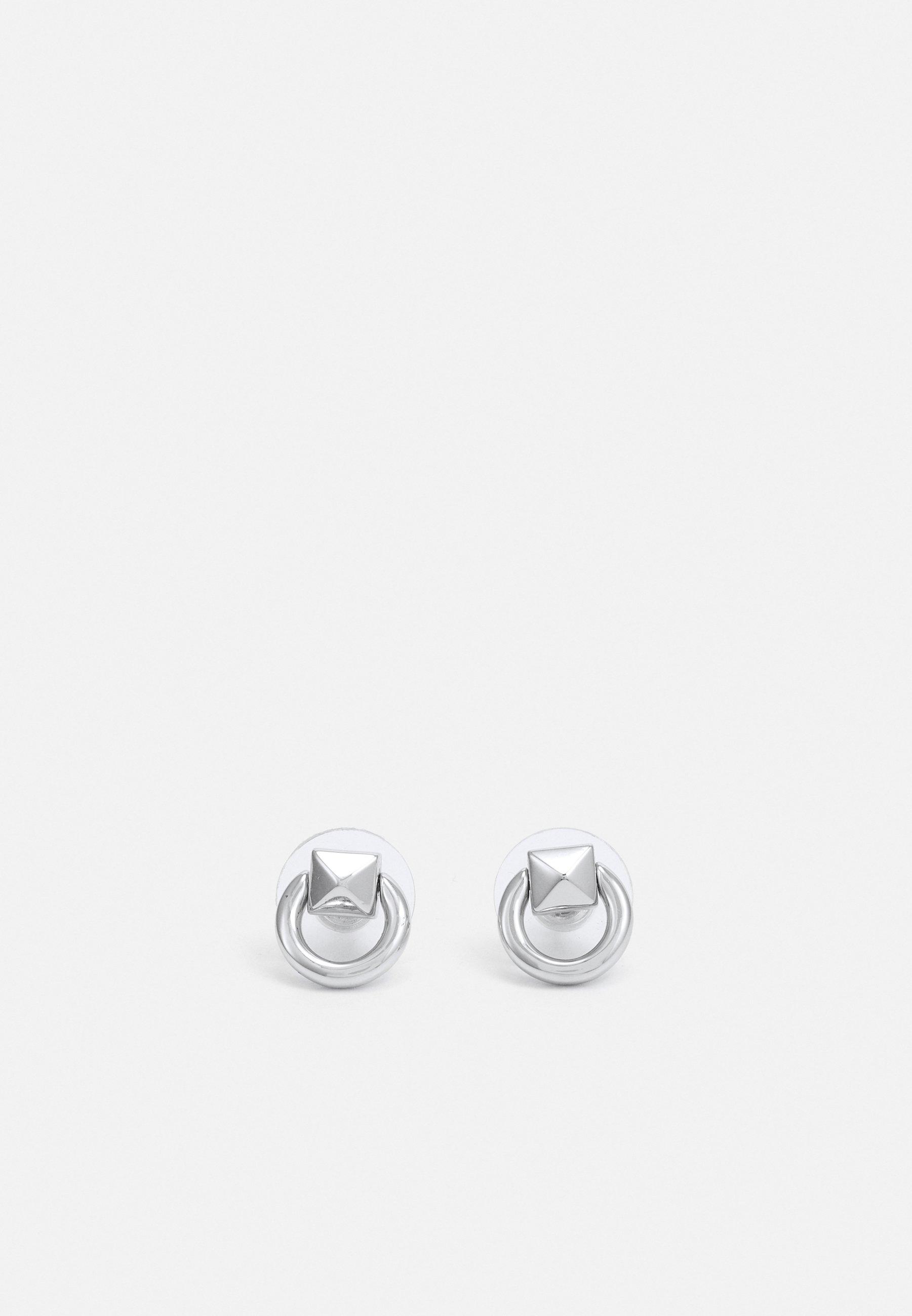 Femme MINI PYRAMID STUD DOOR-KNOCKER EARRING - Boucles d'oreilles