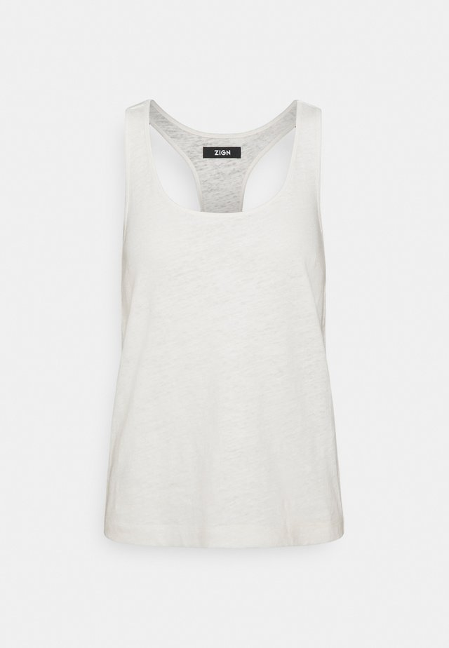 TOP-LINEN BLEND - Top - off-white