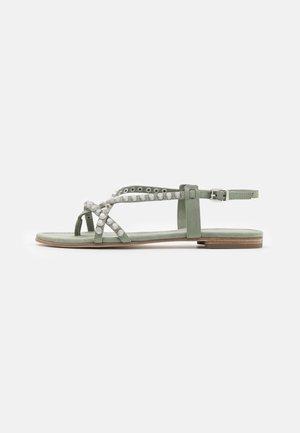 ELLE - T-bar sandals - salvia/silver