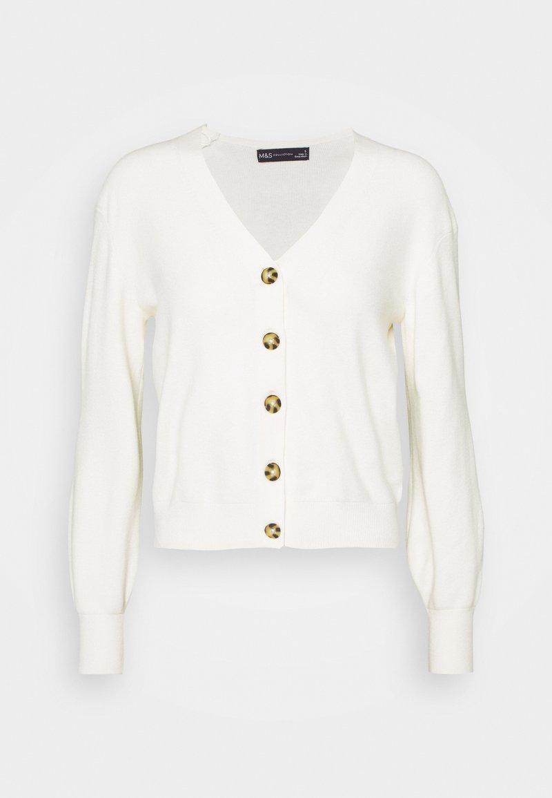 Marks & Spencer London - NEEDLE CARDI - Cardigan - beige