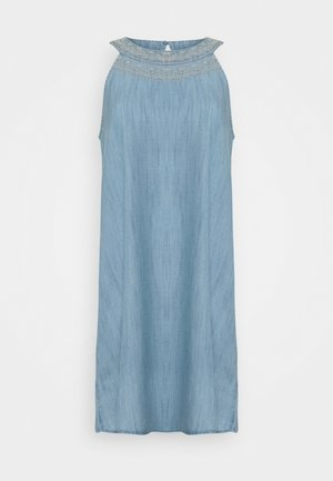 MIDI DRESS - Jeanskjole / cowboykjoler - blue light wash