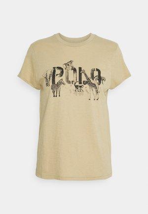 Print T-shirt - dune tan