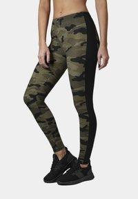 Urban Classics - Leggings - Trousers - woodcamo/blk - 0
