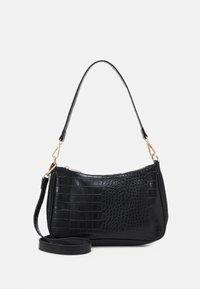Pieces - PCDANA SHOULDER BAG - Handbag - black/gold - 0