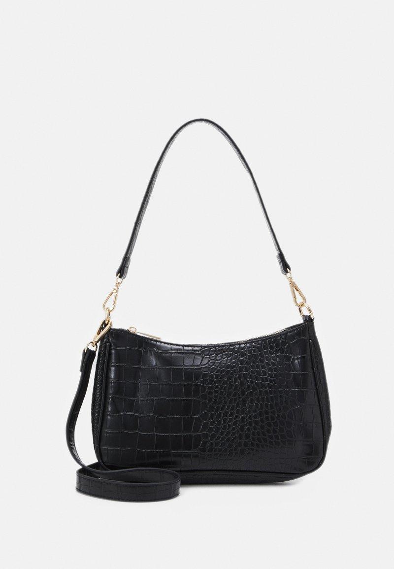Pieces - PCDANA SHOULDER BAG - Handbag - black/gold