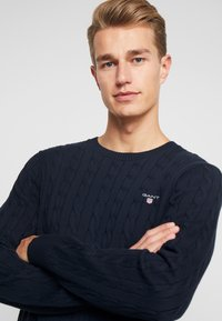 GANT - CABLE CREW - Neule - evening blue - 4