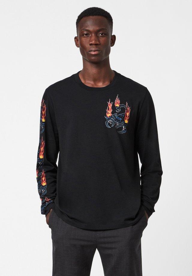 STINGER LS CREW - T-shirt print - black