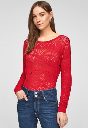 MIT AJOURMUSTER - Jumper - red