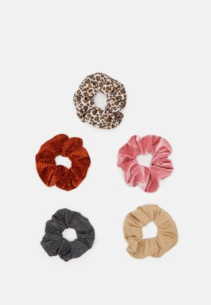 ONLMILLE SCRUNCHIE 5 PACK - Hair Styling Accessory - black/multi-colours