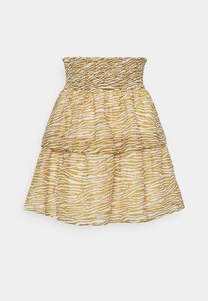 RIVO - Mini skirt - dried tobacco