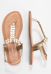 Tamaris - T-bar sandals - gold - 3