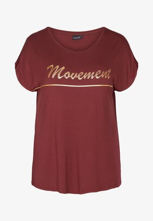 Camiseta estampada - dark bordeaux