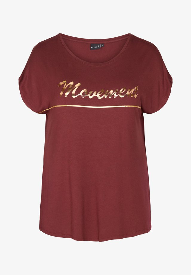 T-shirt imprimé - dark bordeaux